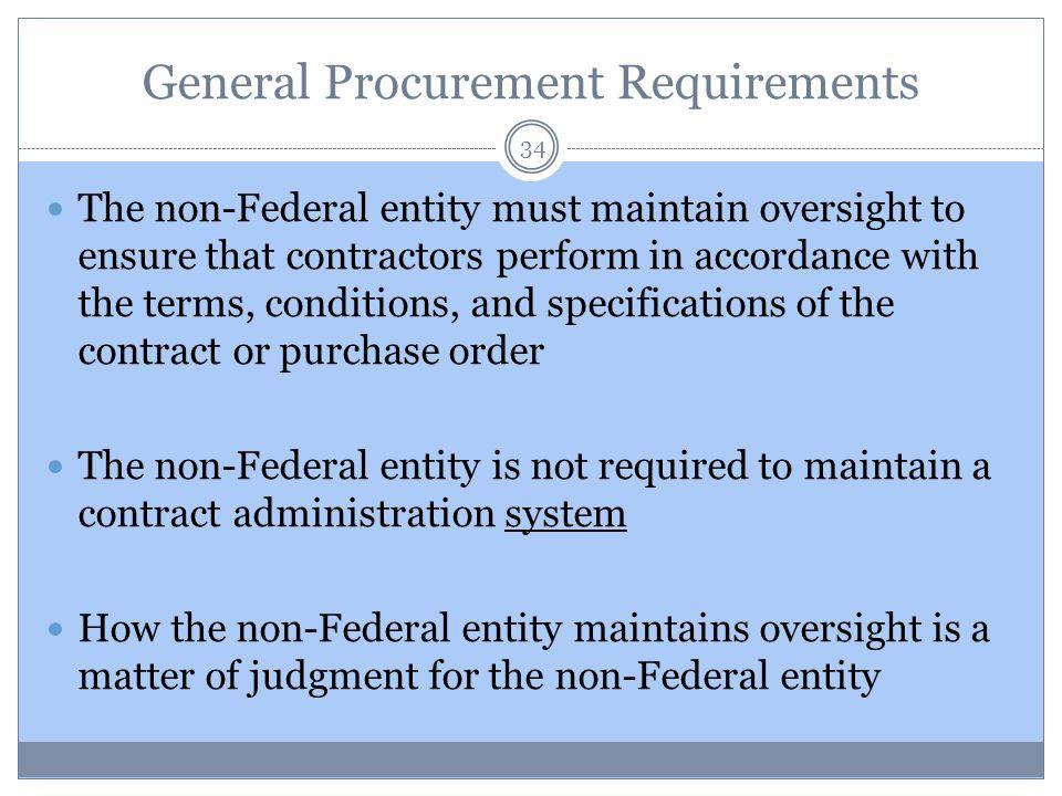 General Procurement Requirements