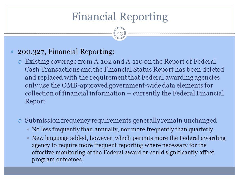 Financial Reporting 200.327, Financial Reporting: