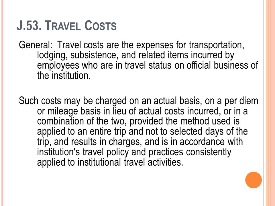 J.53. Travel Costs