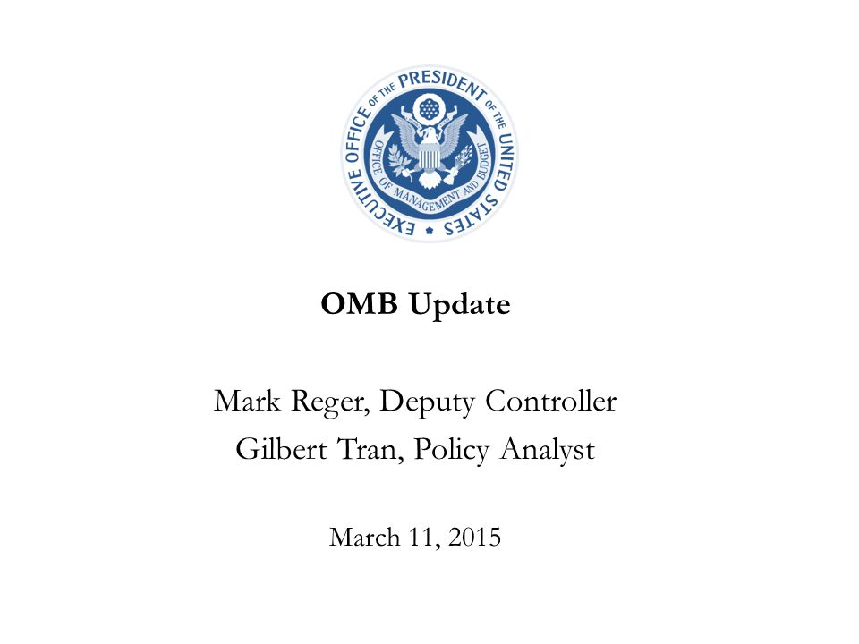 Mark Reger, Deputy Controller Gilbert Tran, Policy Analyst