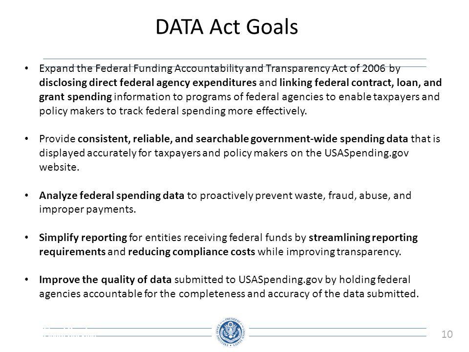 DATA Act Goals