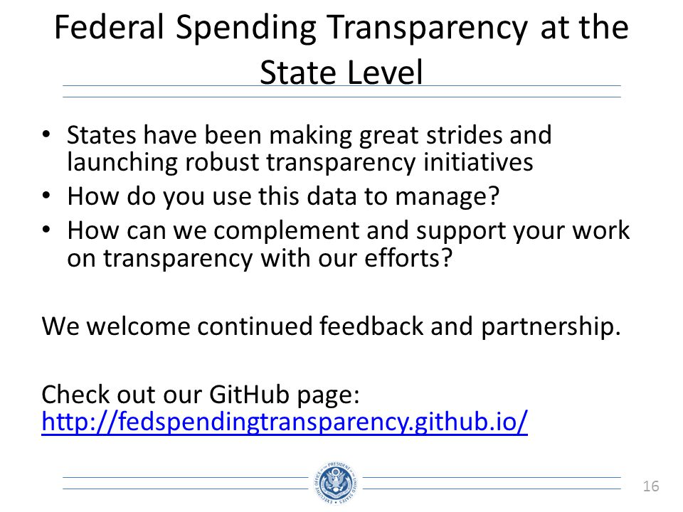 Federal Spending Transparency at the State Level