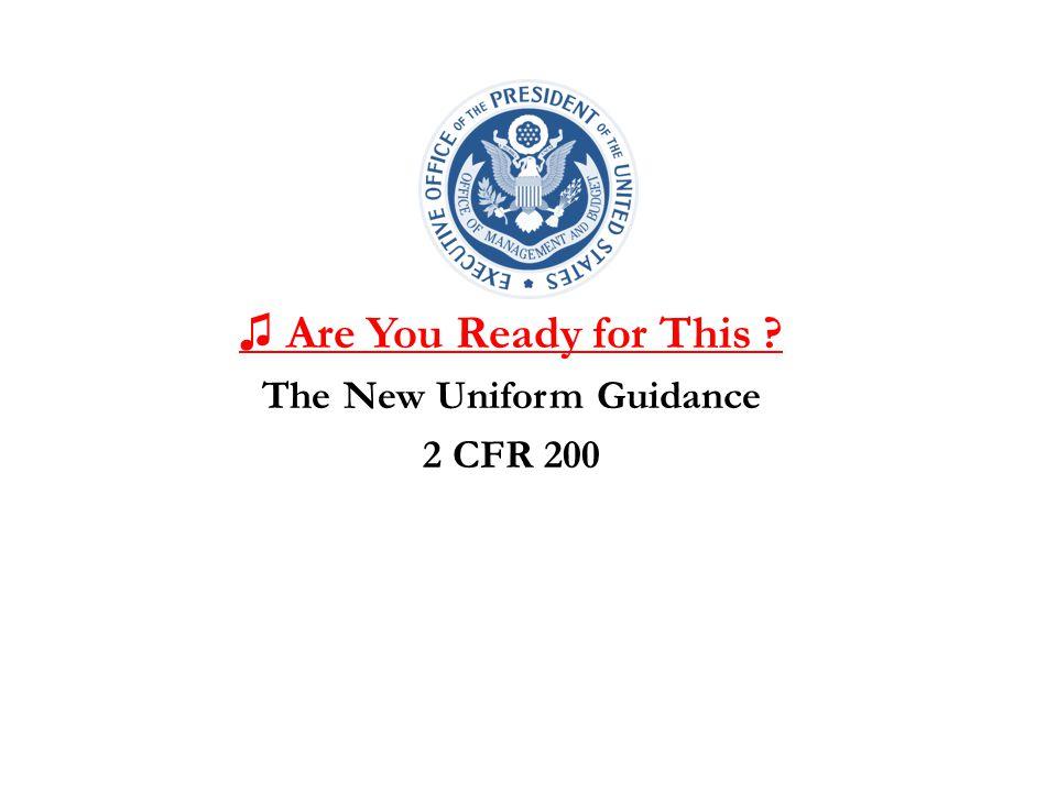 The New Uniform Guidance