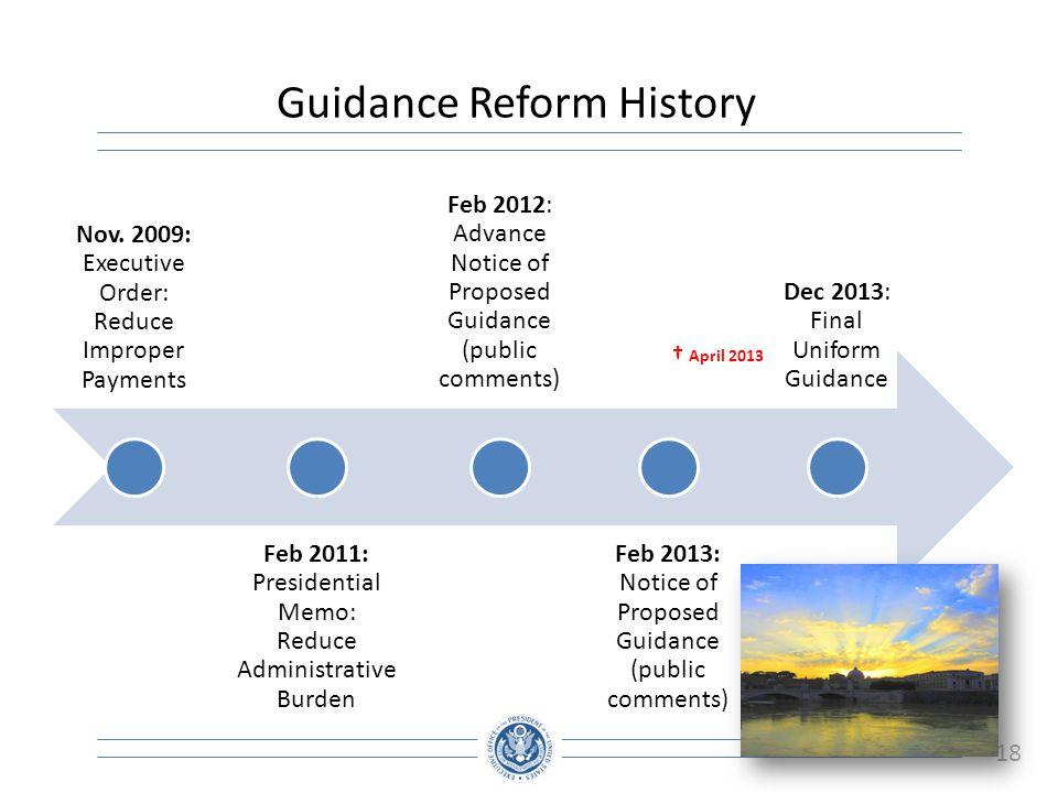 Guidance Reform History