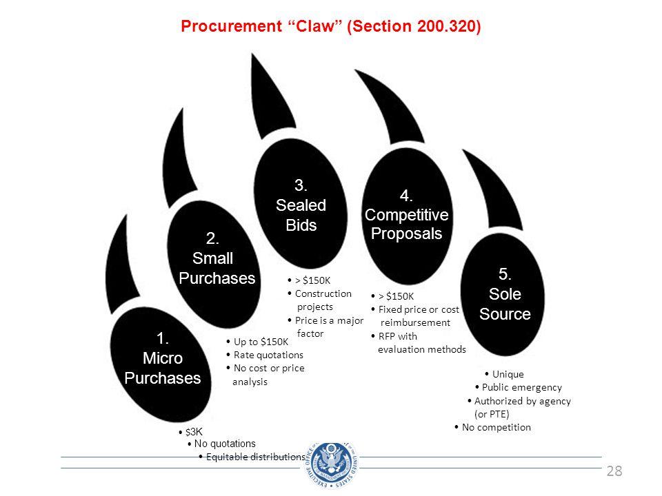 Procurement Claw (Section 200.320)