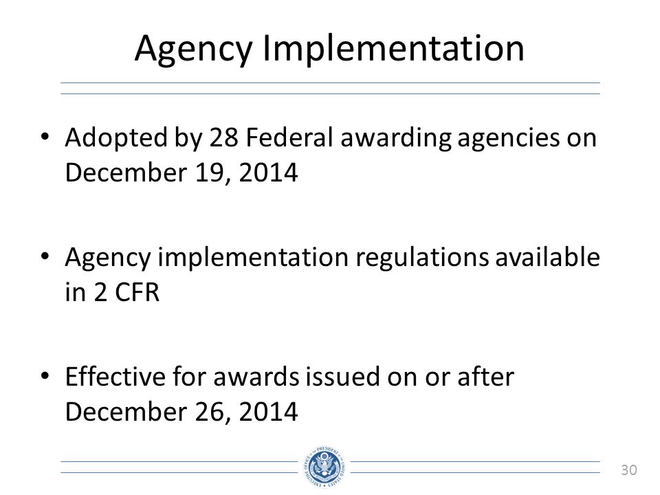 Agency Implementation