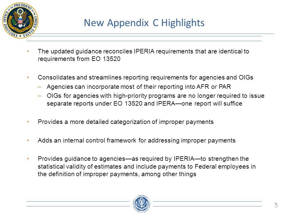 New Appendix C Highlights