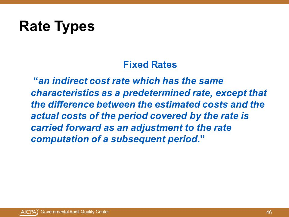 Rate Types Fixed Rates.