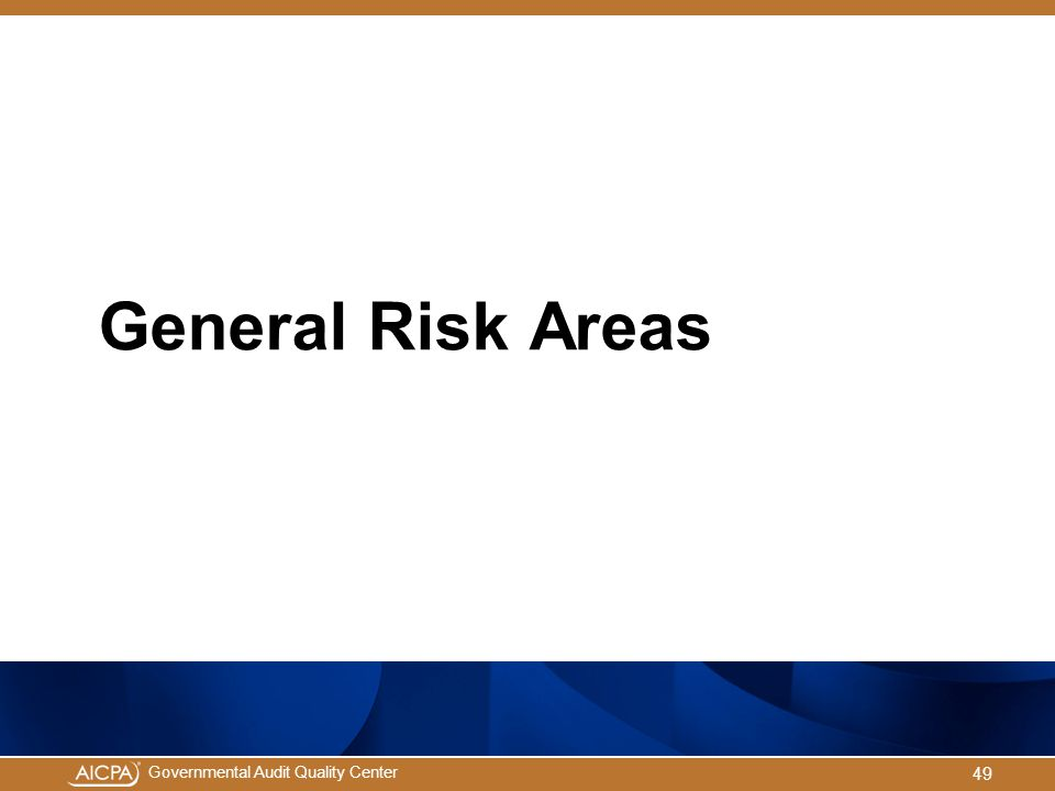 General Risk Areas