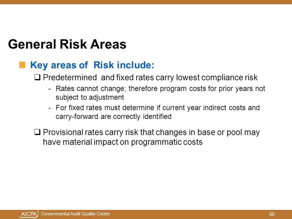 General Risk Areas Key areas of Risk include: