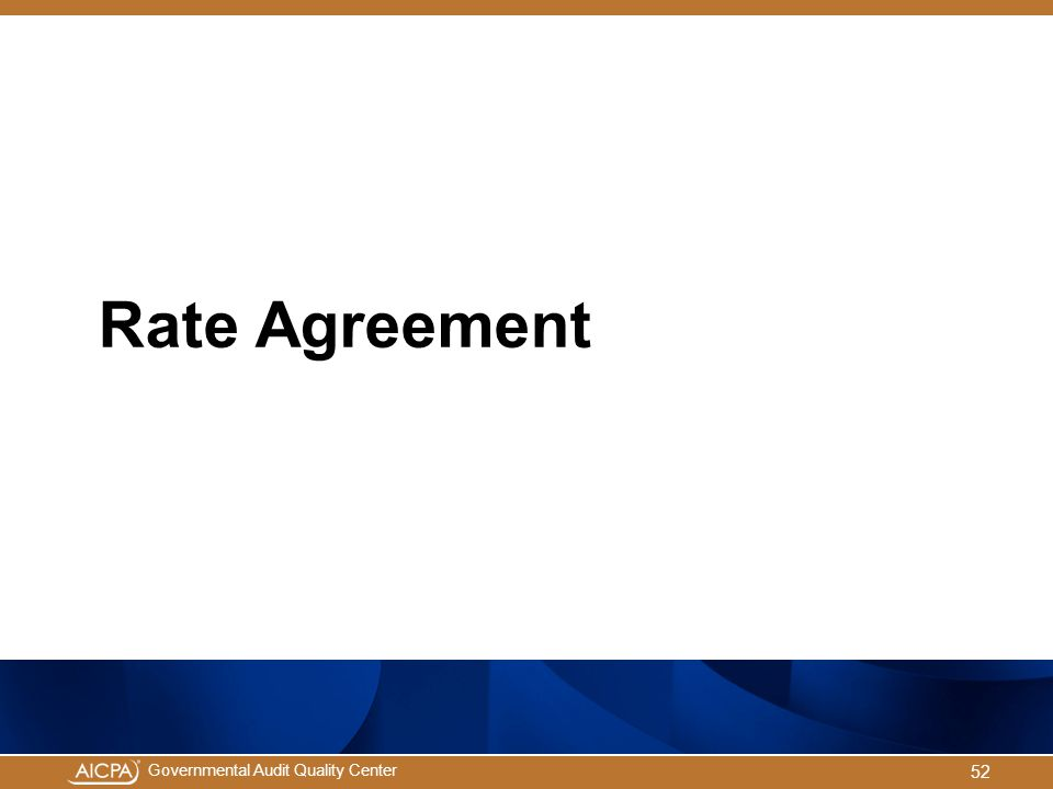 Rate Agreement