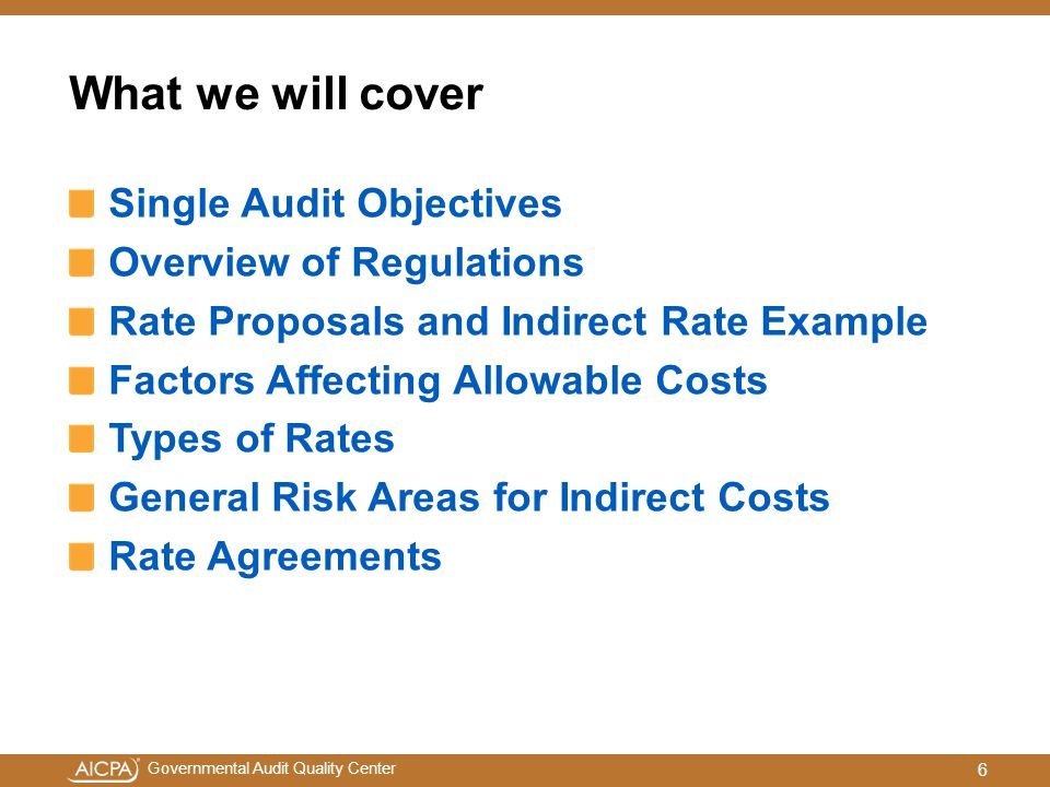 What we will cover Single Audit Objectives Overview of Regulations