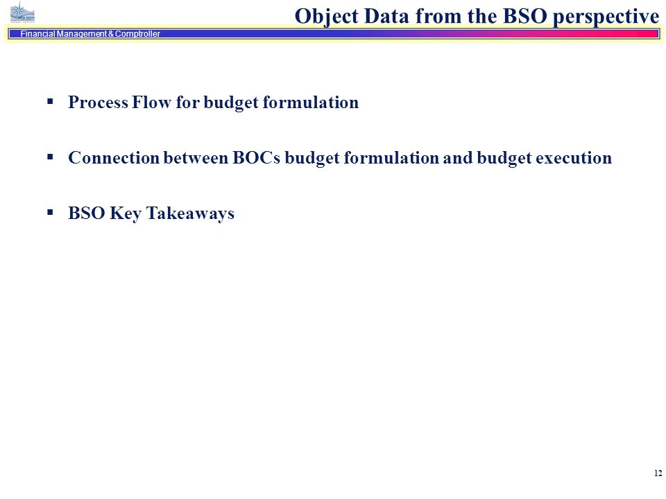 Object Data from the BSO perspective