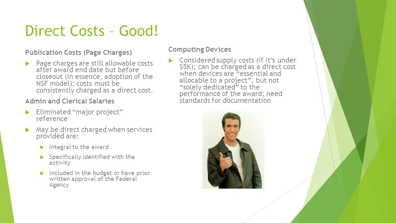 Direct Costs – Good! Computing Devices