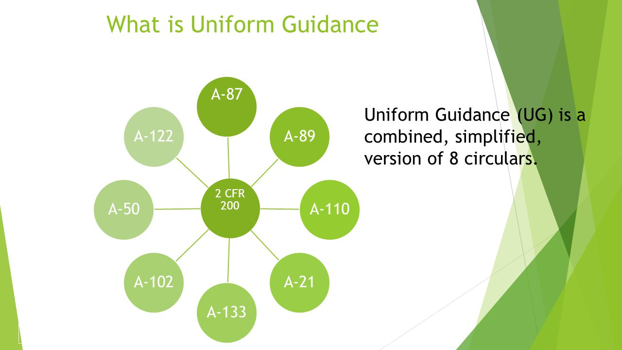 What is Uniform Guidance