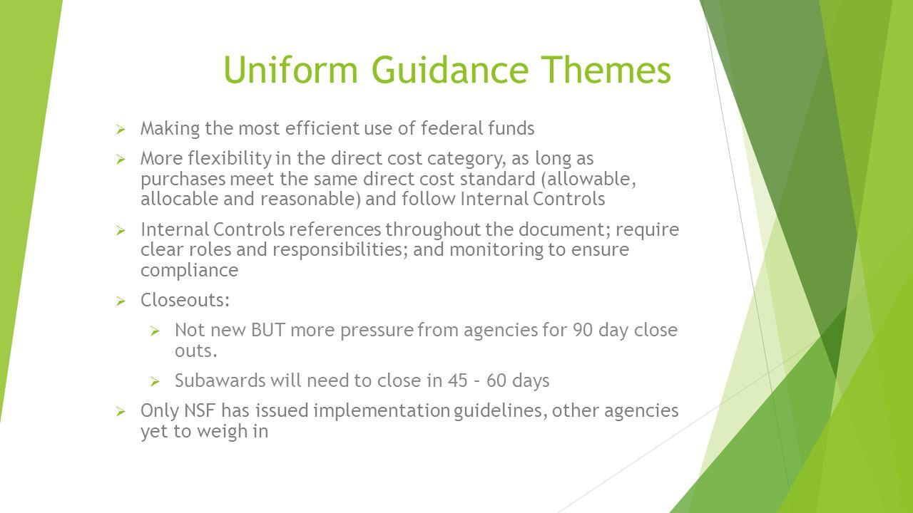 Uniform Guidance Themes