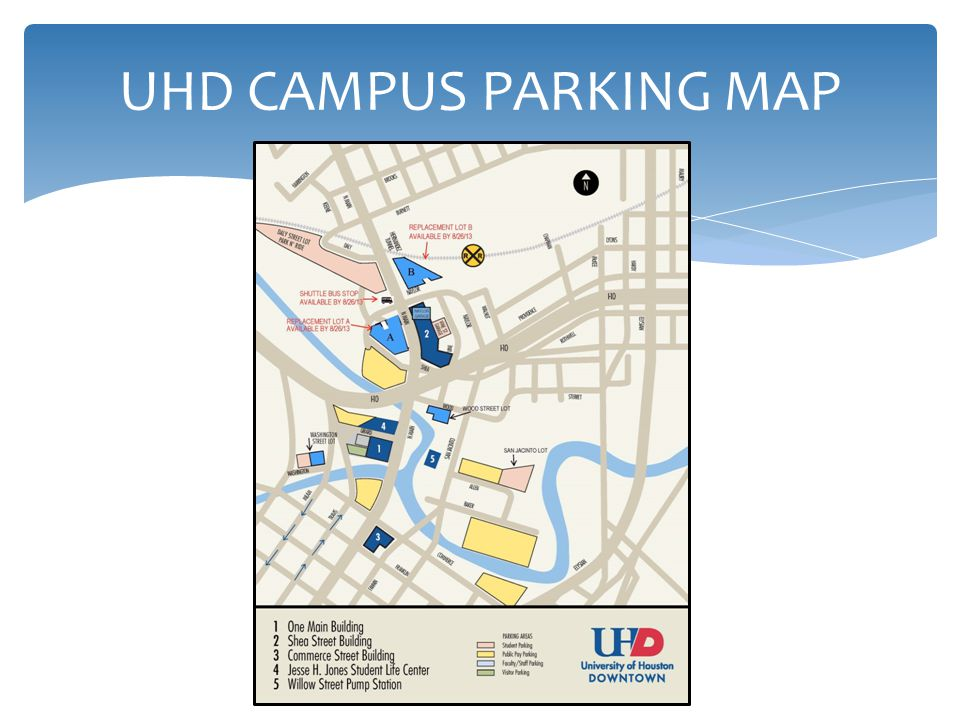 UHD CAMPUS PARKING MAP