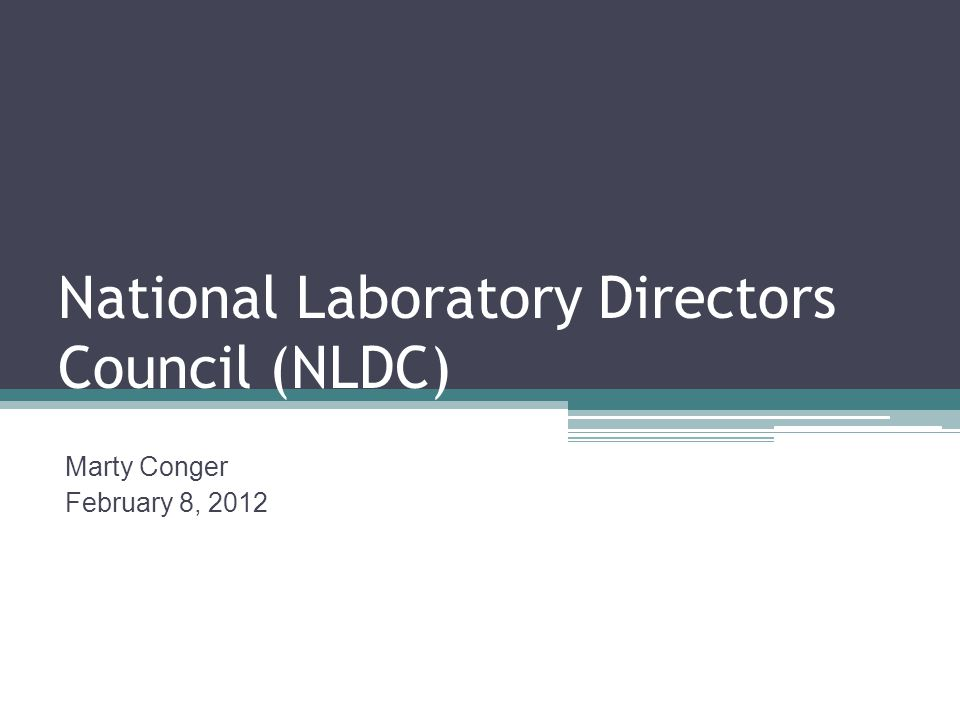 National Laboratory Directors Council (NLDC)