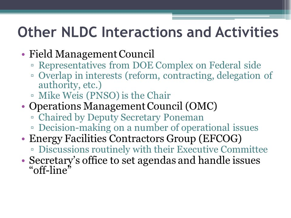 Other NLDC Interactions and Activities