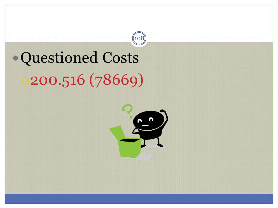 Questioned Costs 200.516 (78669)