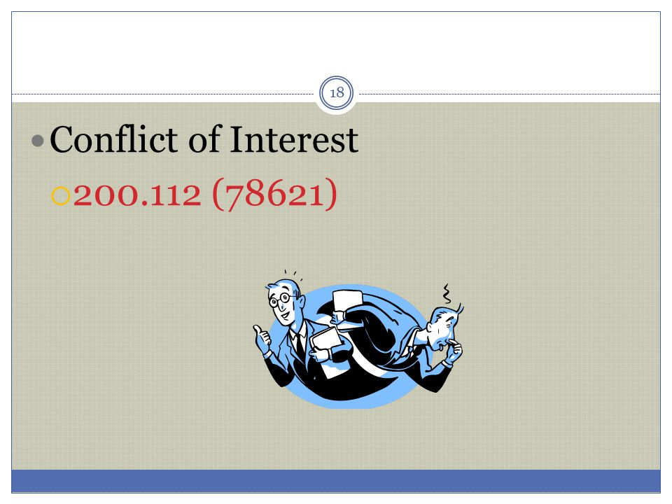 Conflict of Interest 200.112 (78621)
