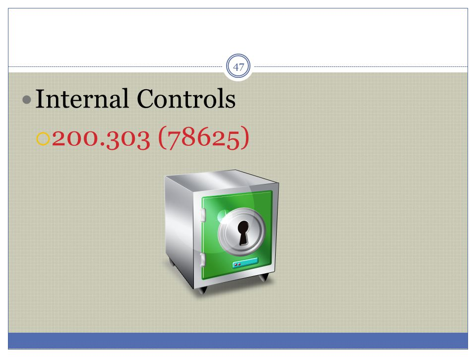 Internal Controls 200.303 (78625)