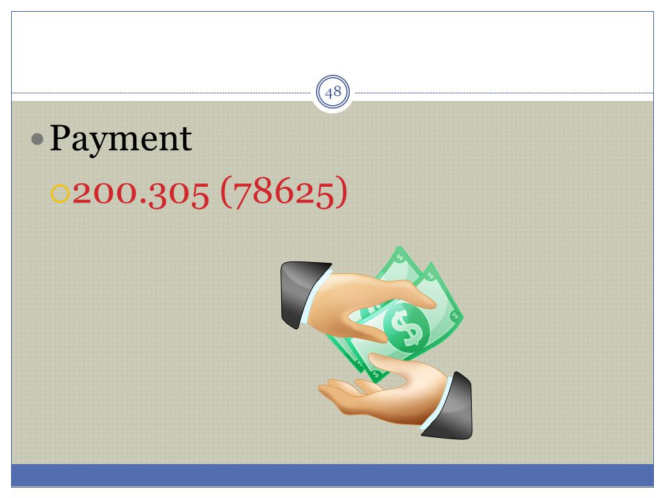 Payment 200.305 (78625)