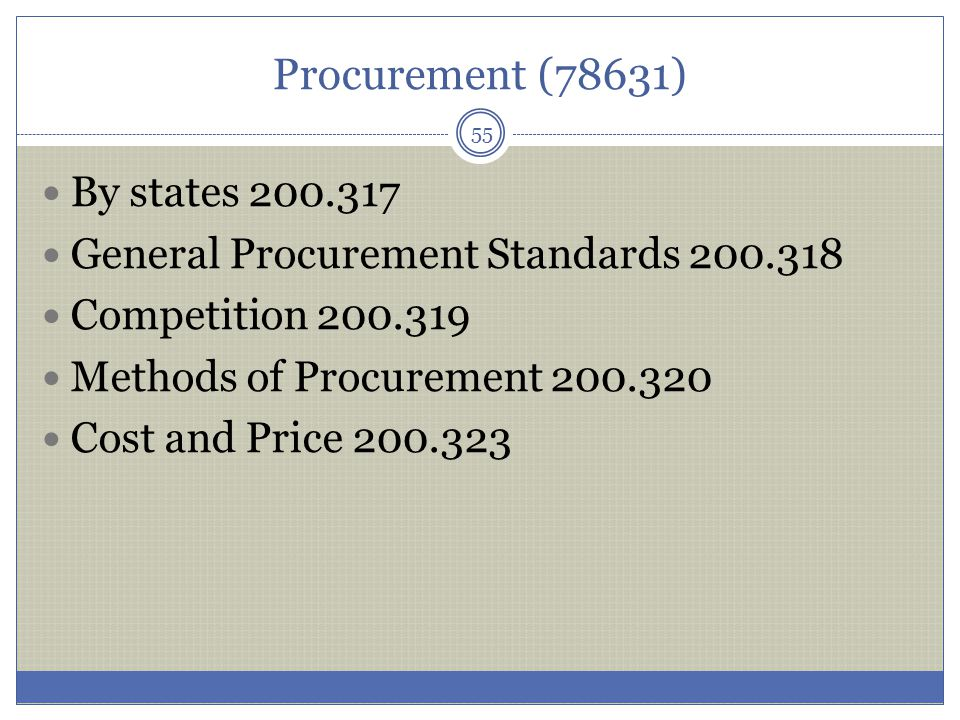Procurement (78631) By states 200.317