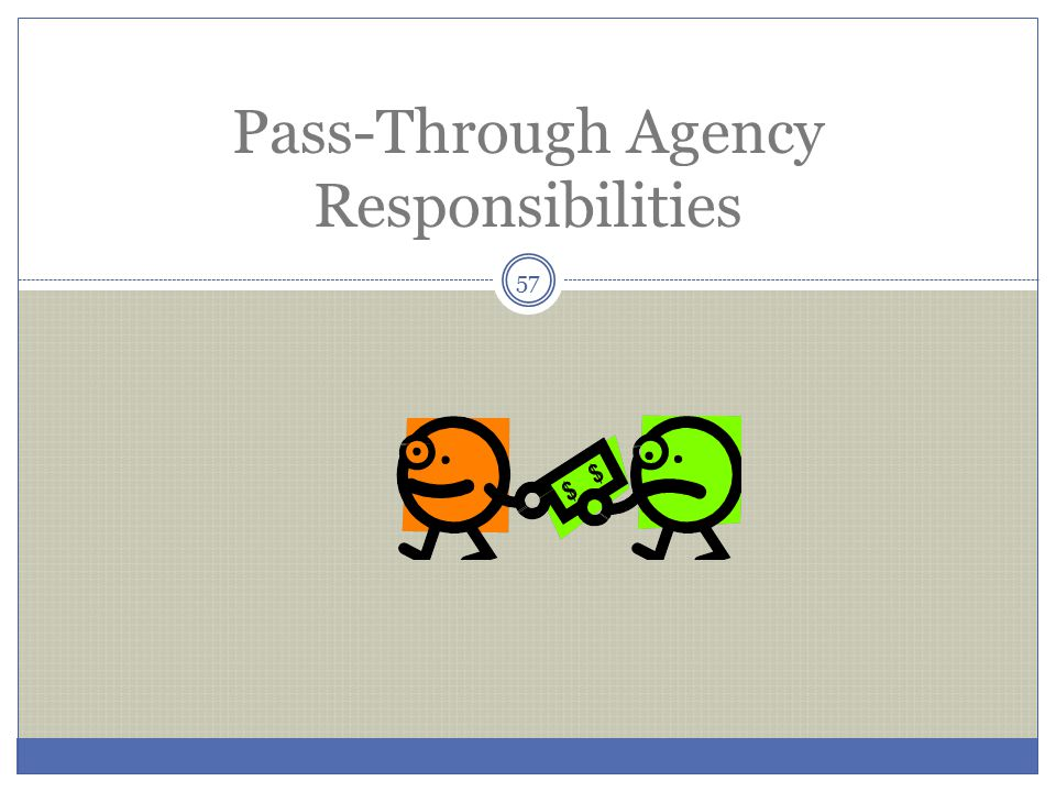 Pass-Through Agency Responsibilities