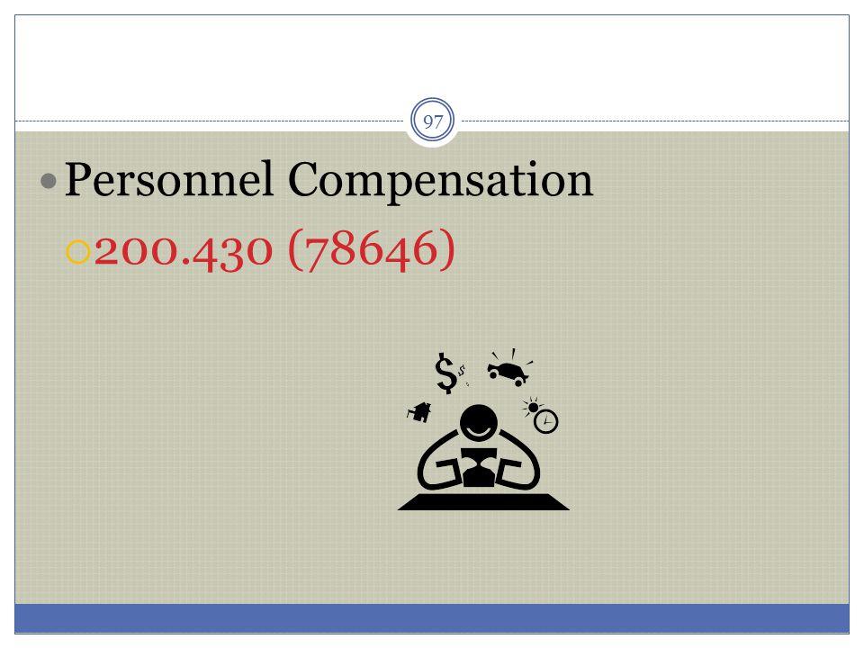 Personnel Compensation