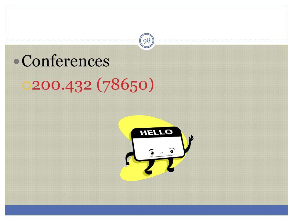 Conferences 200.432 (78650)
