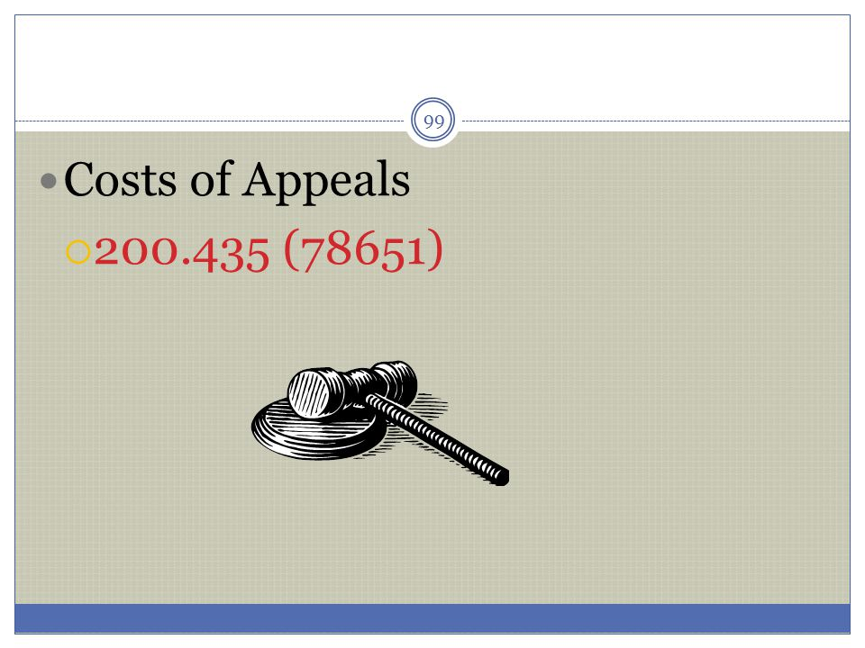 Costs of Appeals 200.435 (78651)
