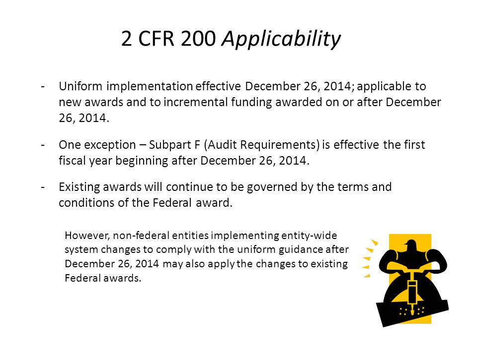 2 CFR 200 Applicability