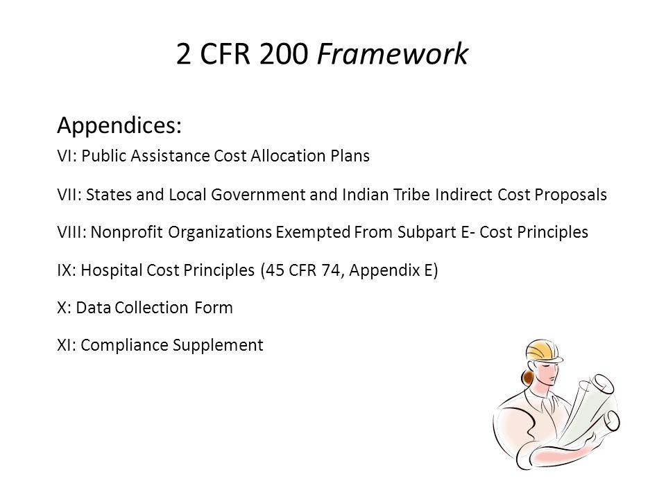 2 CFR 200 Framework Appendices: