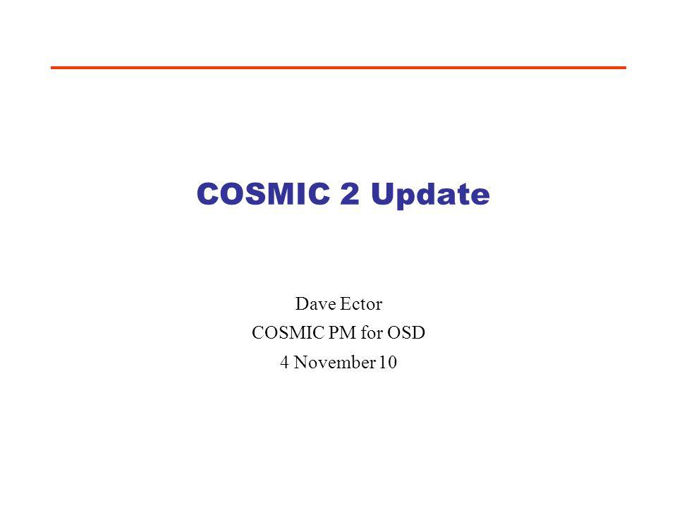 Dave Ector COSMIC PM for OSD 4 November 10