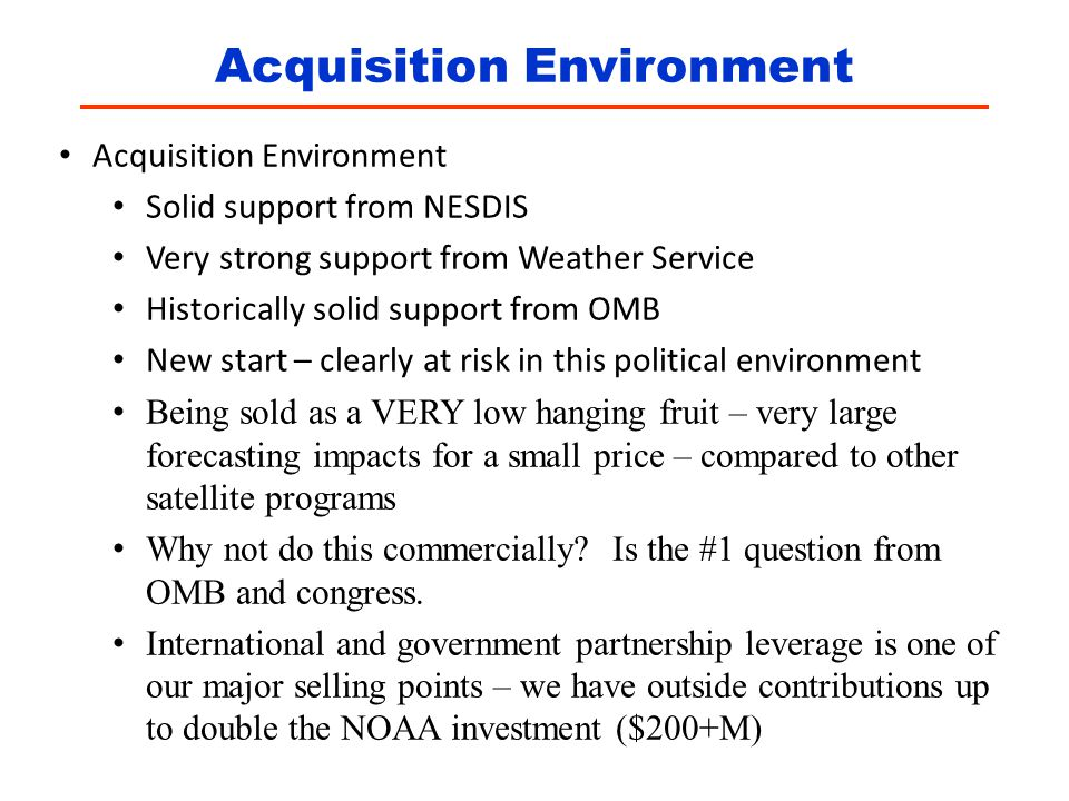 Acquisition Environment