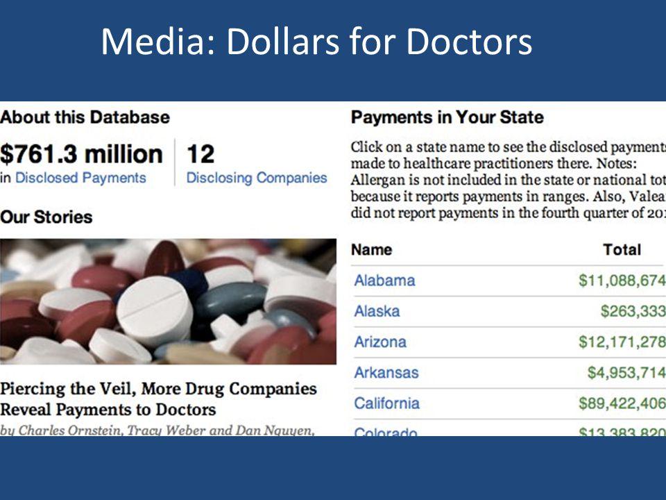 Media: Dollars for Doctors