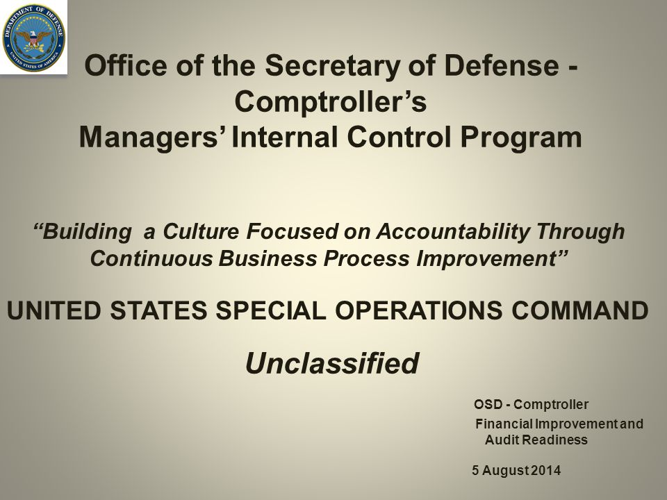 Office of the Secretary of Defense - Comptroller's