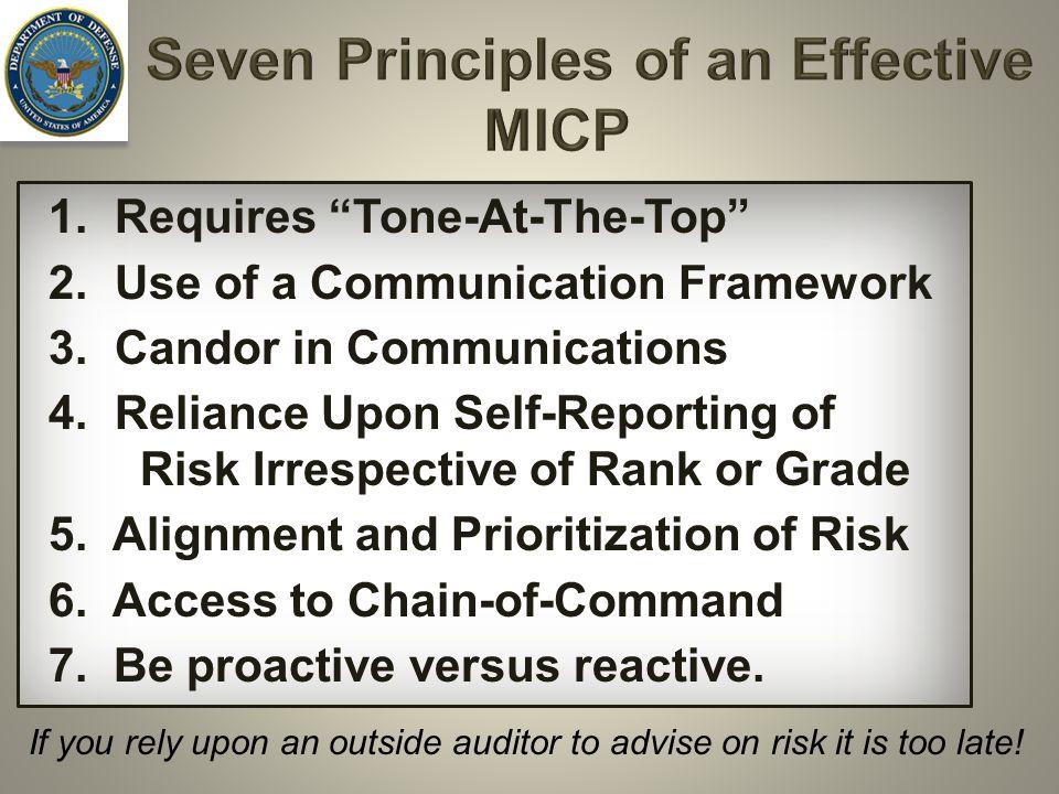 Seven Principles of an Effective MICP