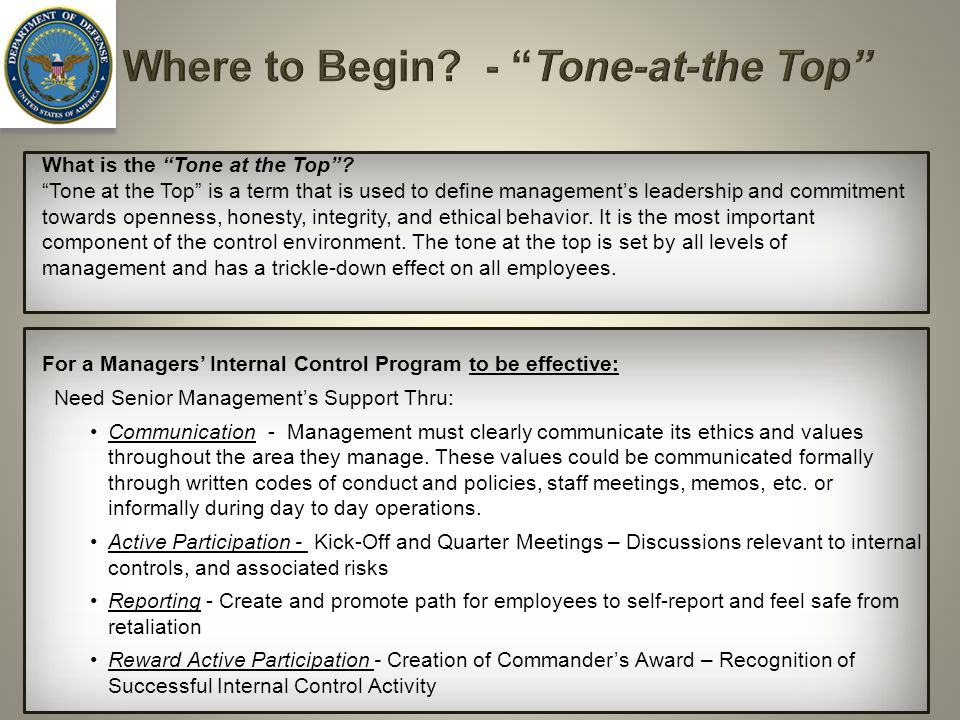 Where to Begin - Tone-at-the Top