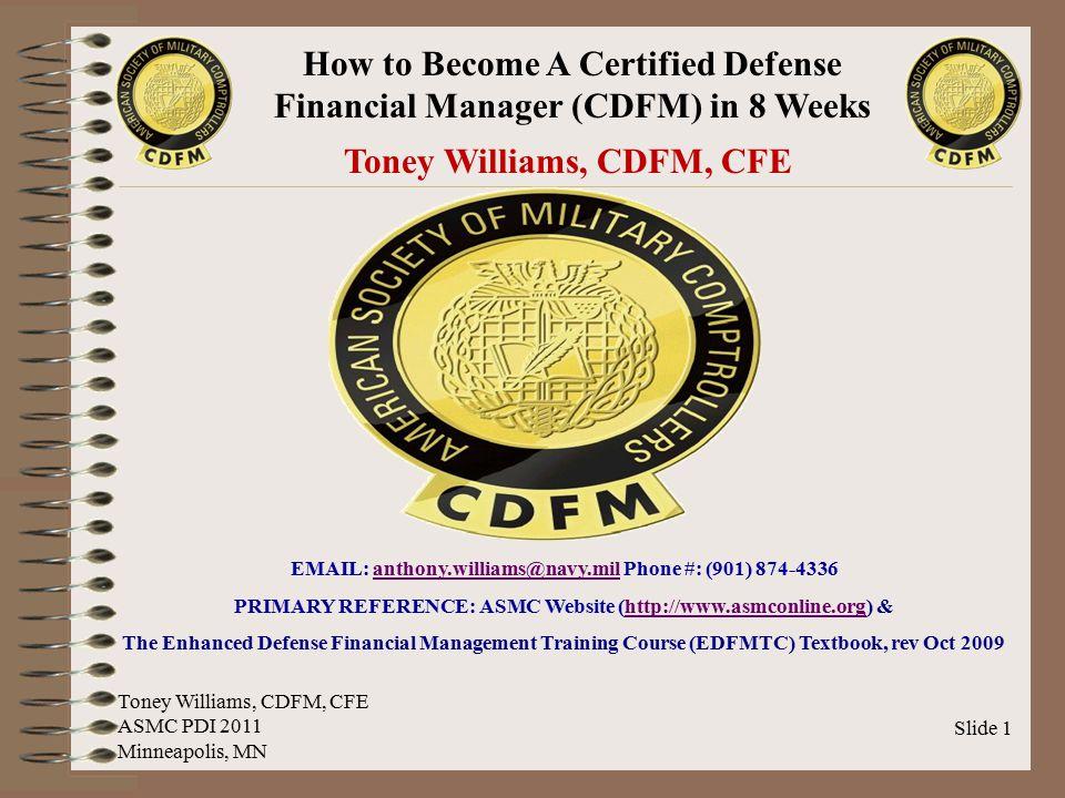 Toney Williams, CDFM, CFE