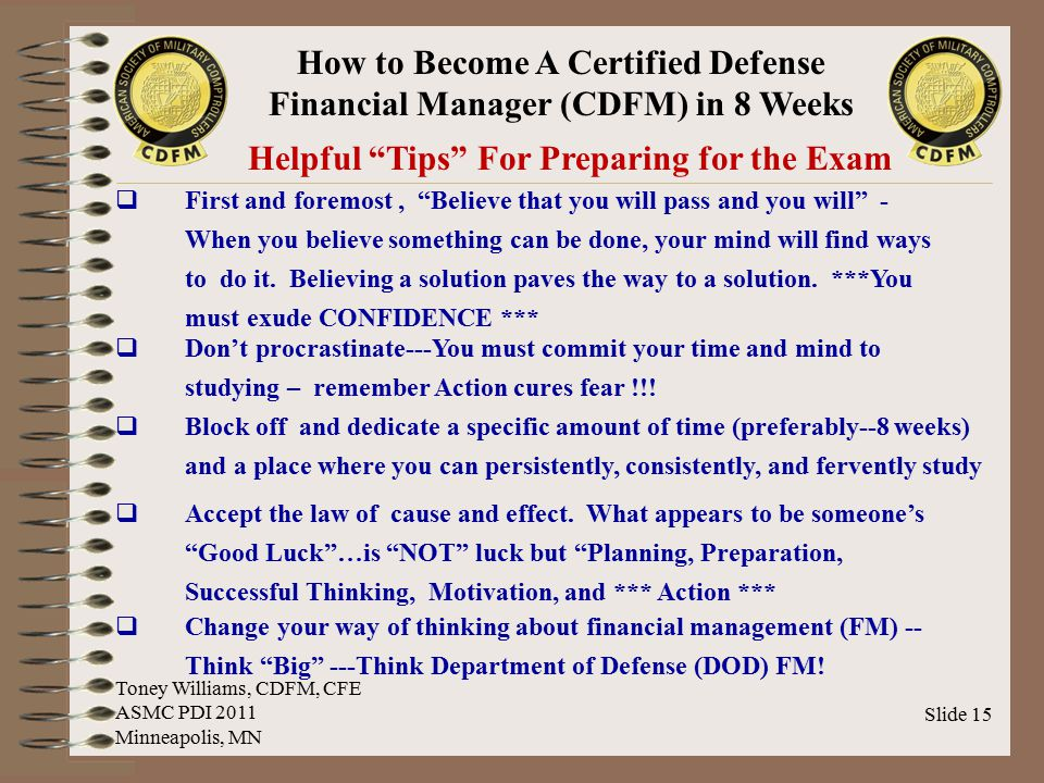 Helpful Tips For Preparing for the Exam