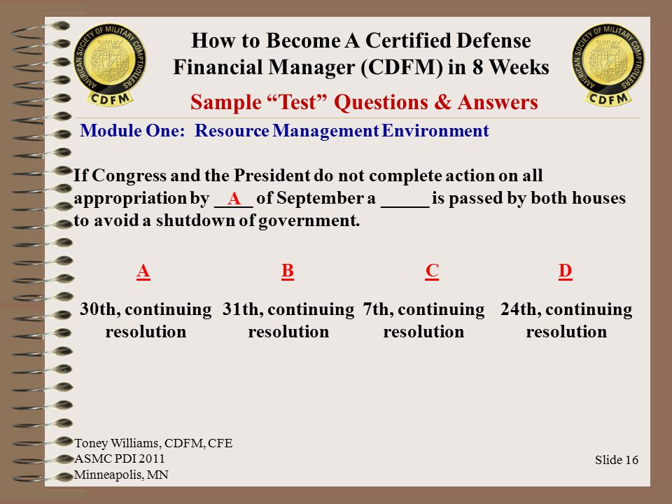 Sample Test Questions & Answers