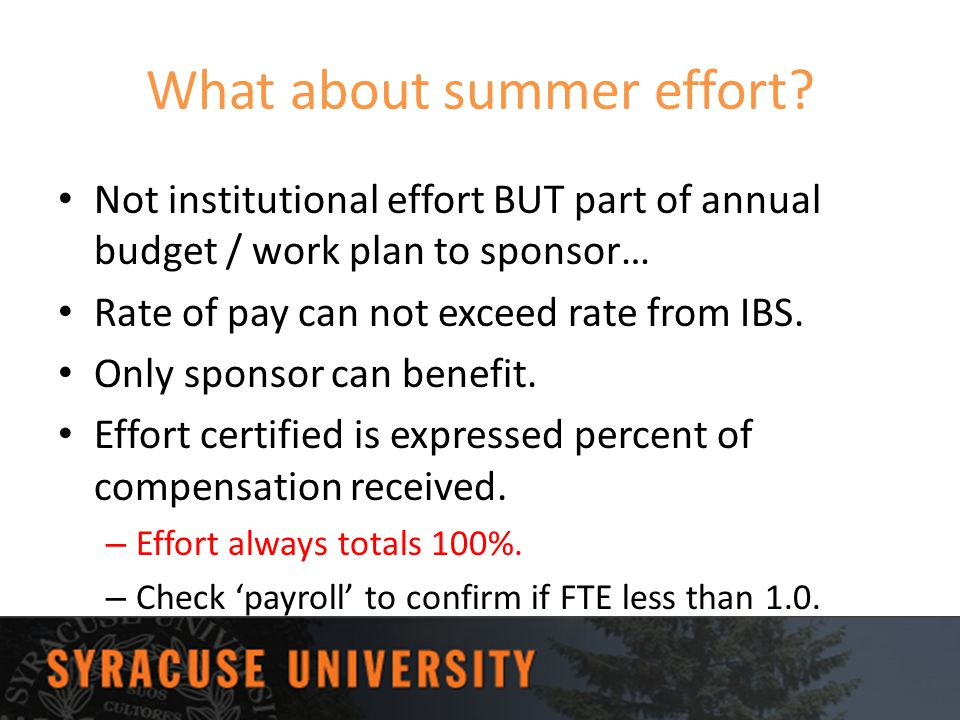 What about summer effort