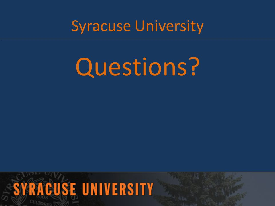 Syracuse University Questions
