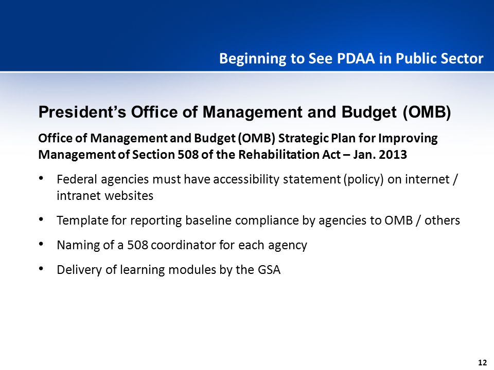 Beginning to See PDAA in Public Sector