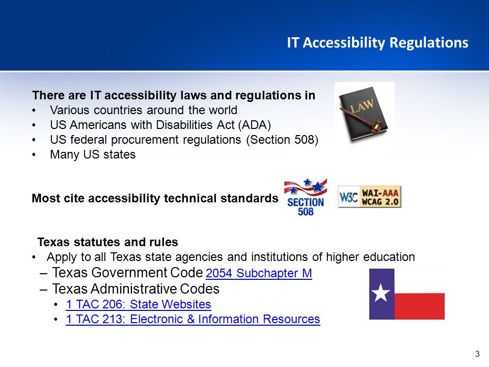 IT Accessibility Regulations