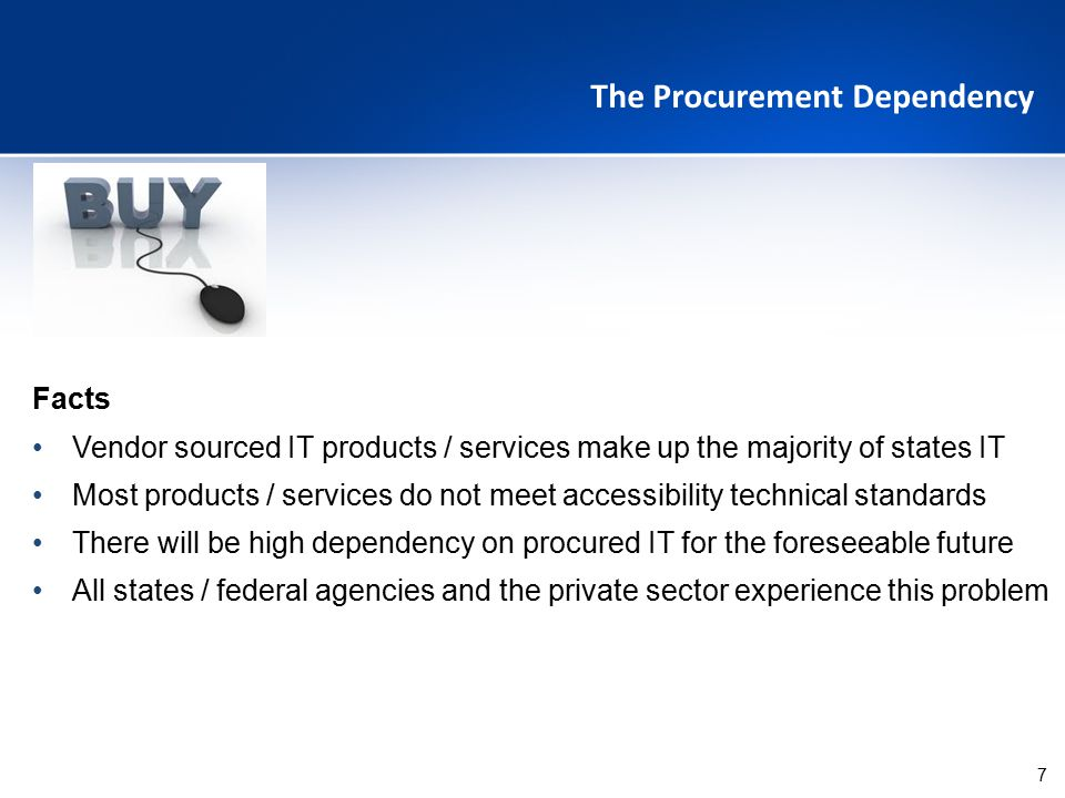 The Procurement Dependency