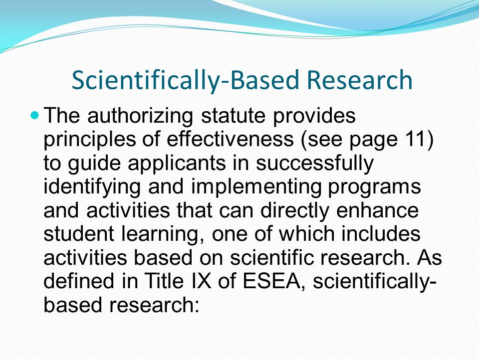 Scientifically-Based Research