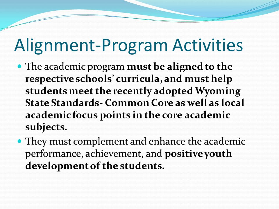 Alignment-Program Activities